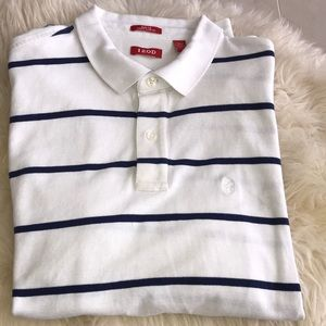 IZOD striped short sleeve polo shirt
